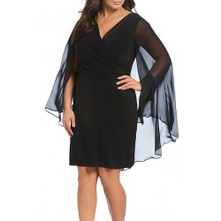 Bordowa midi Malta Plus Size
